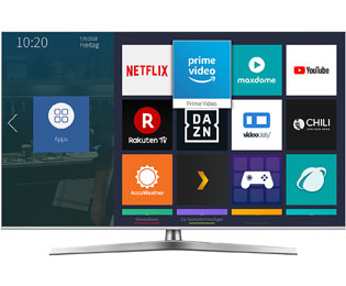 "Hisense U7B Serie - H55U7B, 4K/UHD, ULED, Smart TV, 138 cm [55""] mit HDR10+, Dolby Atmos, Dolby Vision und Local Dimming - Silber - H55U7B_SI - 1"