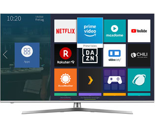 "Hisense U8B Serie - H55U8B, 4K/UHD, ULED, Smart TV, 138 cm [55""] mit HDR10+, Dolby Atmos, Dolby Vision und Local Dimming - Silber - H55U8B_SI - 1"