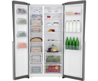 Amerikanischer Kühlschrank Haier : Haier hrf 521ds6 amerikanischer side by side 518l silber a