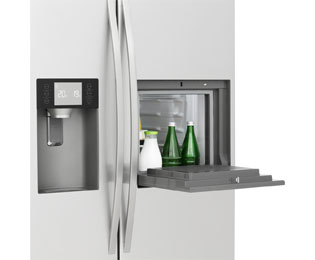 Amerikanischer Kühlschrank Haier : Haier hrf 630am7 amerikanischer side by side mit wasserspender