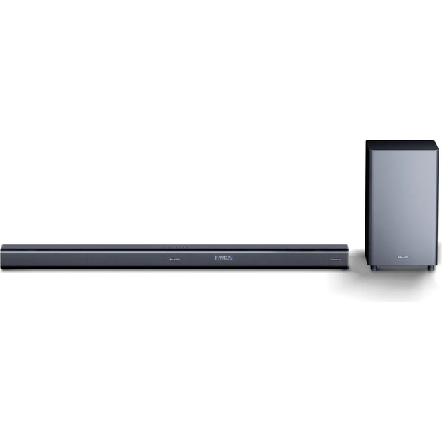 Sharp HT-SBW800 Bluetooth-Soundbar 760 Watt mit Subwoofer [kabellos] - Schwarz