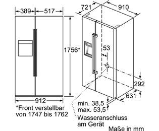 Bosch Serie 6 Kad92hi30 Amerikanischer Side By Side Mit