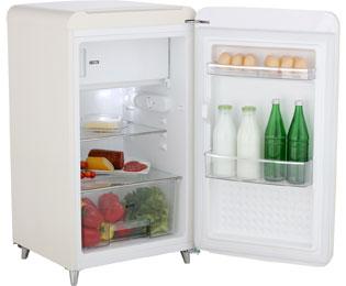 Bomann Kühlschrank Günstig : Bomann ksr 350 kühlschrank mit gefrierfach beige retro design a