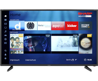 "Sharp LC-43FG5242E, Full HD-Smart TV, 109 cm [43""] - Schwarz"