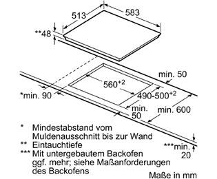 Bosch Pkn645ba1e Glaskeramik Kochfeld Autark 60er Breite