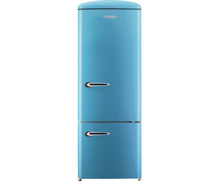 Gorenje Retro Collection RK 60319 OBL Kühl-Gefrierkombination - 60er Breite, Metallic Blau, Retro-Design, A++ - RK 60319 OBL_BLM - 1