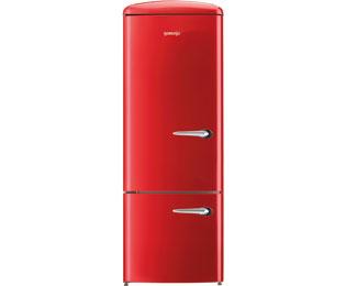 Retro Kühlschrank Gefrierkombination : Gorenje rk 60319 ord l kühl gefrierkombination 60er breite rot
