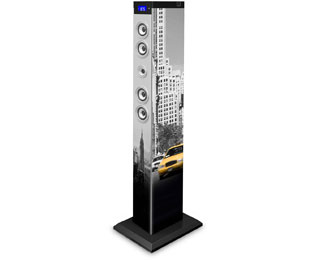 bigben Sound Tower TW9 New York Sound Tower 60 Watt - Grau