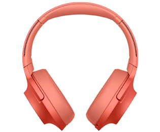 Sony h.ear WH-H900NR, Over Ear-Kopfhörer, Headset-Funktion, Bluetooth, Noise Cancelling - Rot