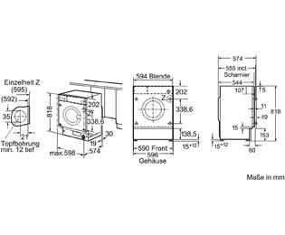 Bosch Serie 8 WIW28440 Einbau-Waschmaschine - - Weiß, 8 kg, 1400 U/Min, A+++