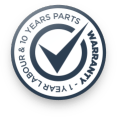 1 year labour and 10 year parts warranty
