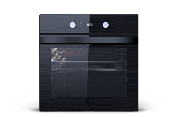 Black built-in oven