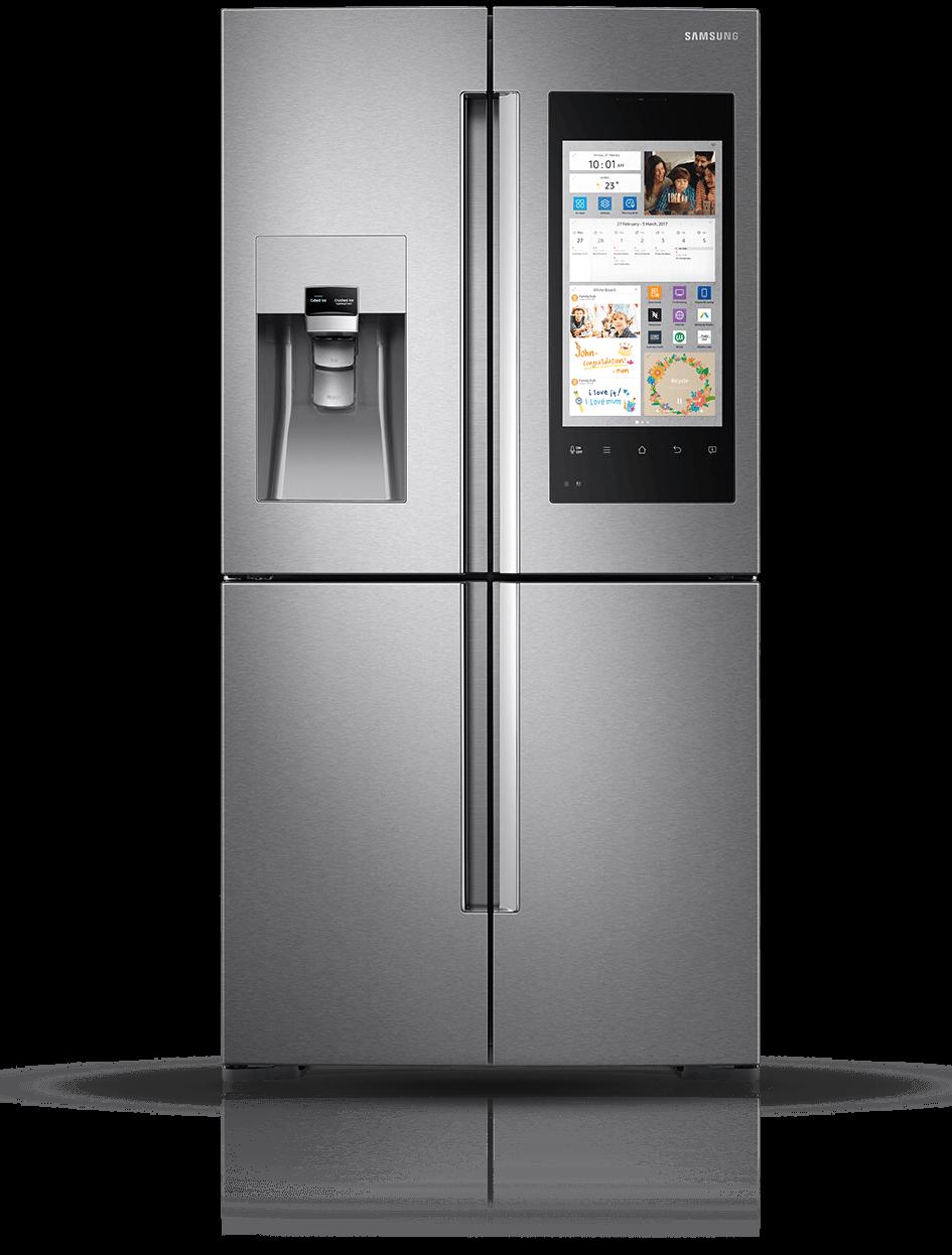 samsung tv refrigerator. samsung family hub™ rf56k9540sr american fridge freezer - stainless steel tv refrigerator n