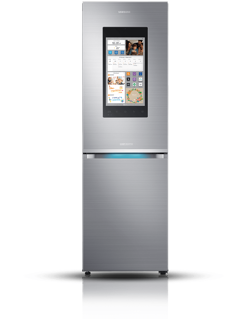 samsung family hub manage your fridge on the go. Black Bedroom Furniture Sets. Home Design Ideas