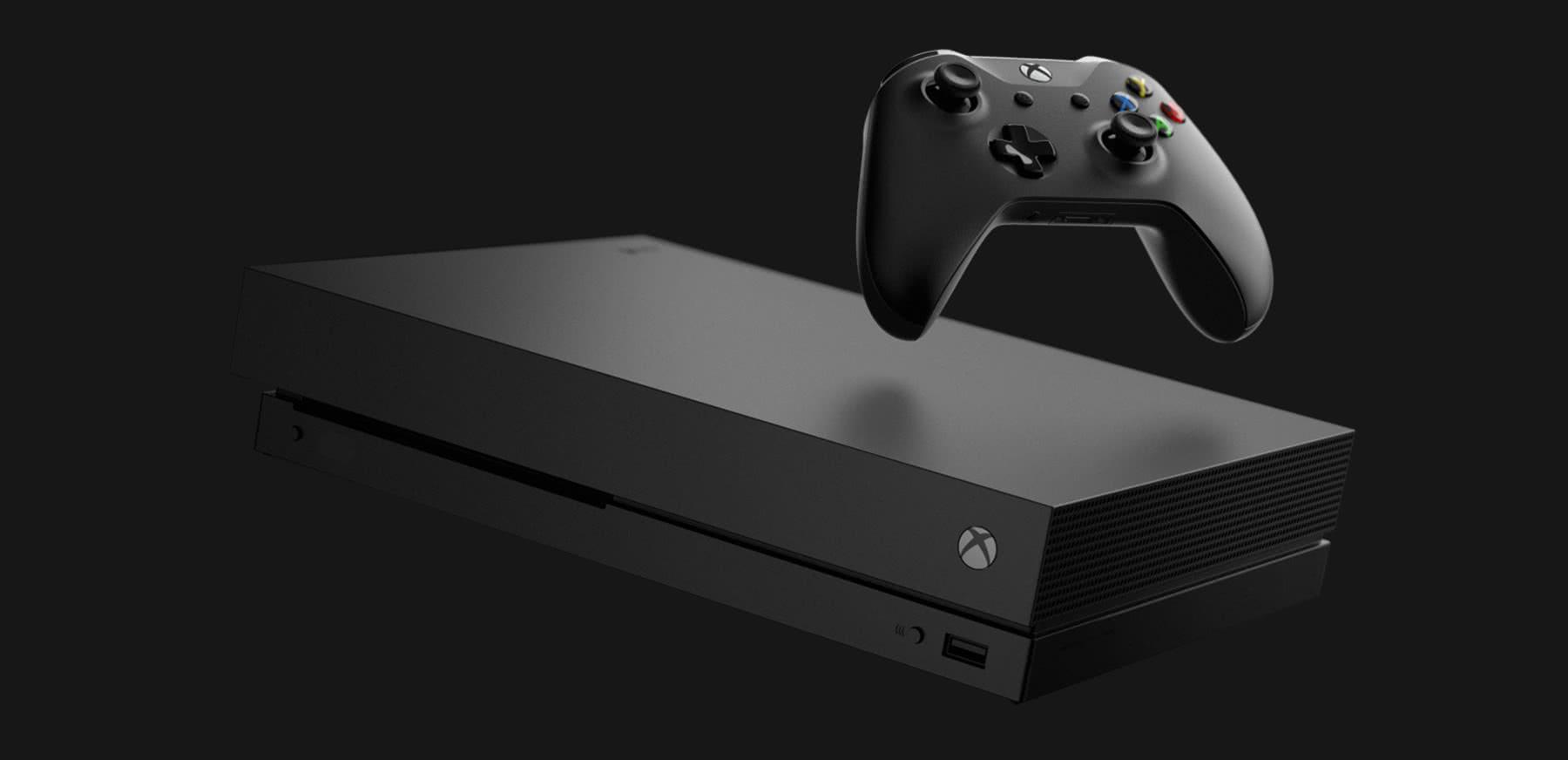 f4f8fe89af5 Xbox One X black.