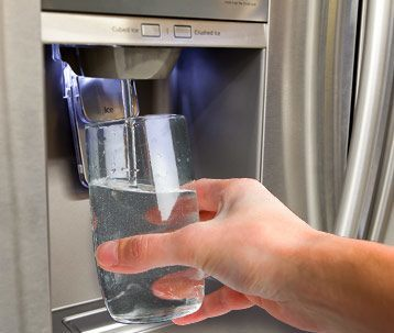 Water and ice dispenser