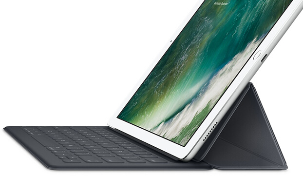 Apple iPad in a keyboard dock