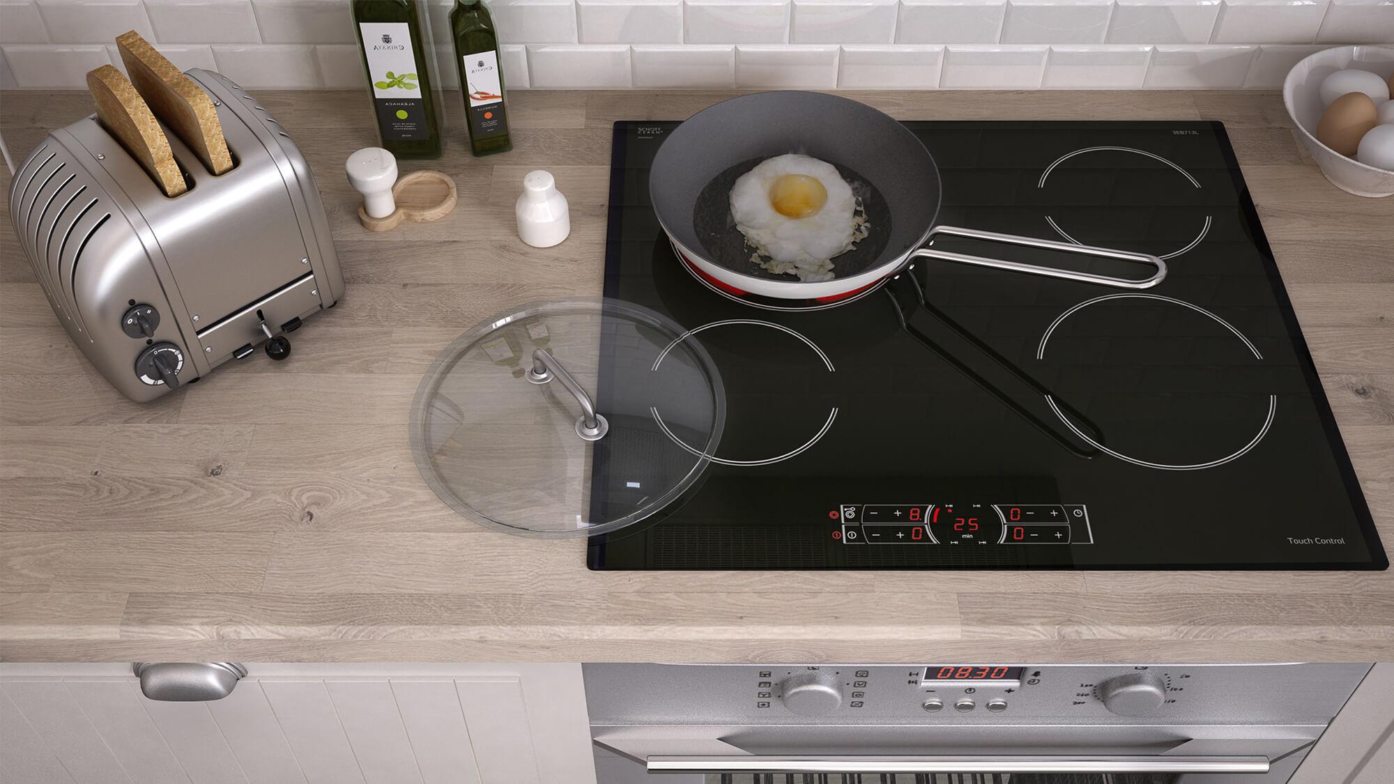 Built In Ceramic Hobs Measurement Guides Wiring Zones Kitchen