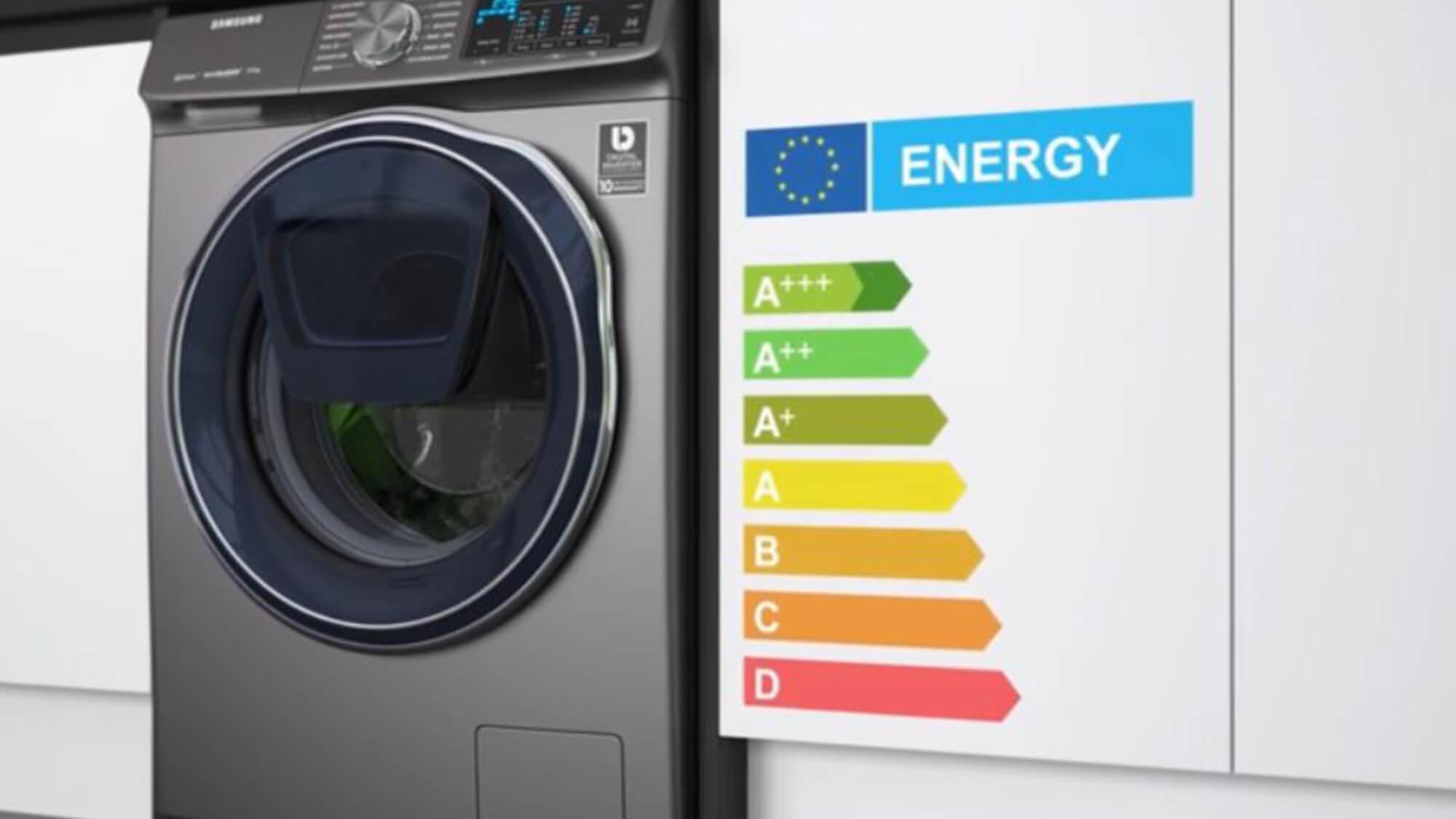 Washing machine energy rating