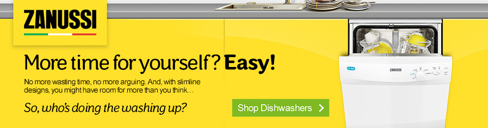 Shop Zanussi Dishwashers