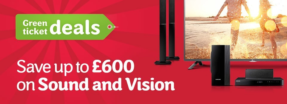 Save up to 600 on Sound and Vision