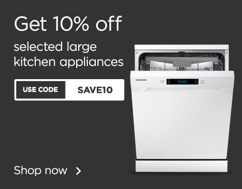 10% off selected large kichen appliances