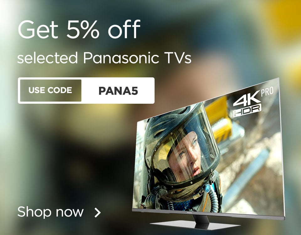 5% off selected Panasonic