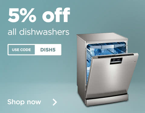 5% off dishwashers