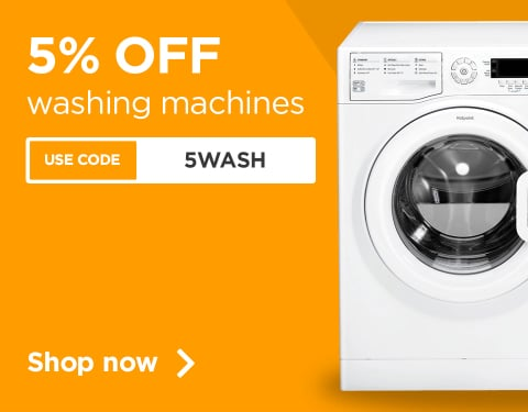 5% off Washing machines