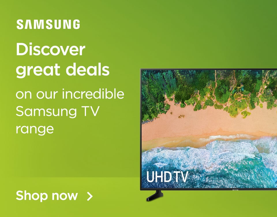 Discover great deals on our incredible Samsung TV range