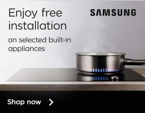 Free installation on selected Samsung built in appliances