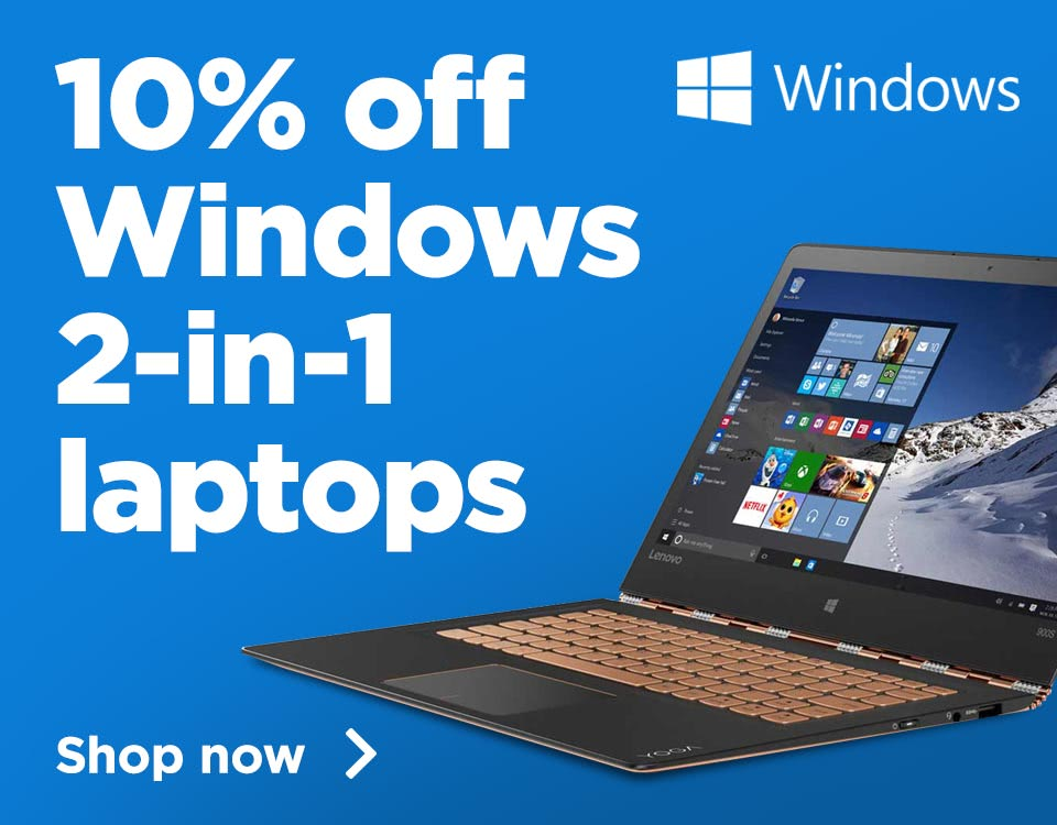 10% off 2-in-1 Laptops