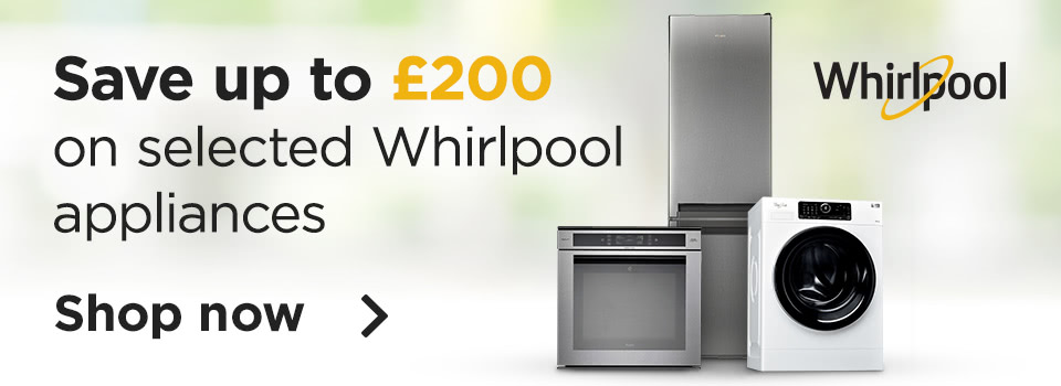Save up to £200 on Whirlpool